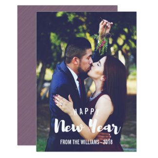 Happy New Year Sketched Personalized Photo Card