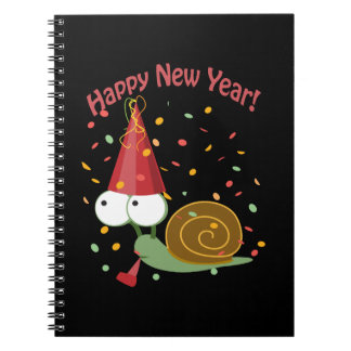 Happy new Year Snail Spiral Note Books