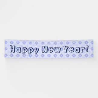 Happy New Year Snowflake Blue Banner by Janz