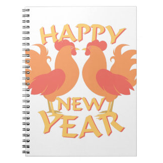 Happy New Year Spiral Note Book