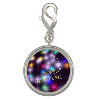 Happy New Year Star Lights Photo Charms