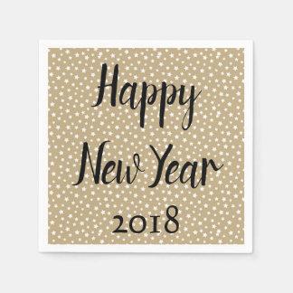 Happy New Year Stars Paper Napkin