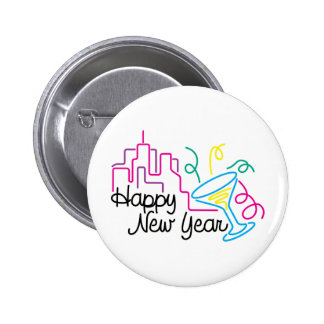 Happy New Year T-Shirts New Year's 2 Inch Round Button