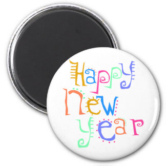 Happy New Year T-Shirts New Year's 2 Inch Round Magnet