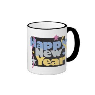 Happy New Year T-Shirts New Year's Ringer Coffee Mug