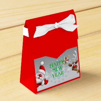 Happy New Year Tent Favor Box