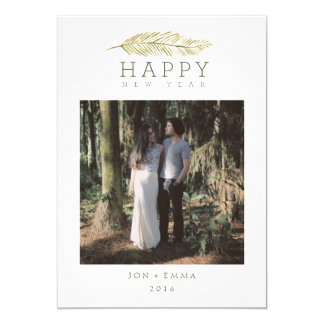HAPPY NEW YEAR WINTER BRANCH CARD