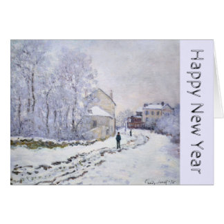 Happy New Year with Claude Monet Greeting card