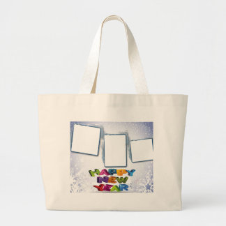 Happy New Year's Add Your Photos Canvas Bags