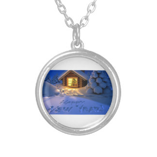 Happy New Years Eve! Silver Plated Necklace