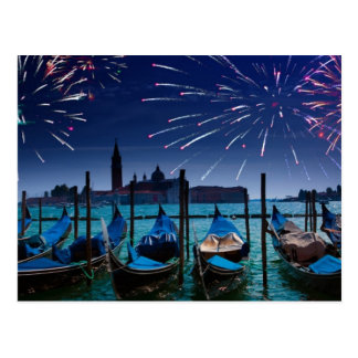 Happy New Years from Venice Postcard