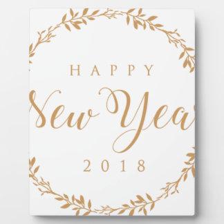 happy new years plaque