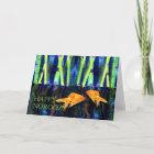Happy Norooz, Goldfish Swimming Christmas Card