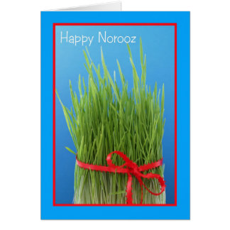 Happy Norooz Persian New Year Card -- Wheat Grass