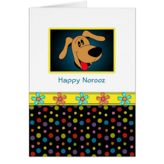Happy Norooz Persian New Year Greeting Card-Dog Card