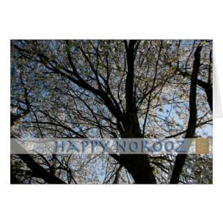 Happy Norooz with Cherry Tree Greeting card