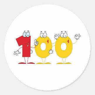 Happy Number 100 Sticker