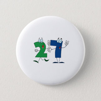 Happy Number 27 2 Inch Round Button
