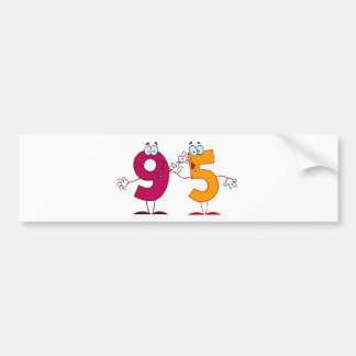 Happy Number 95 Bumper Sticker