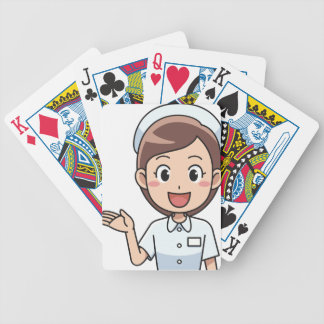 Happy Nurse Bicycle Playing Cards