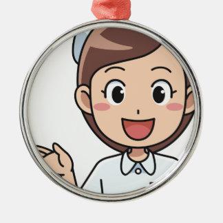 Happy Nurse Metal Ornament