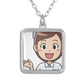Happy Nurse Silver Plated Necklace