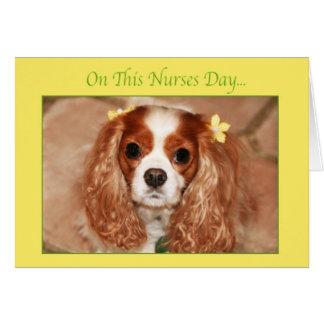 Happy Nurses Day Cavalier King Charles Spaniel Card