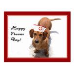 Happy Nurses Day Dachshund postcard
