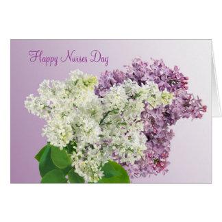 Happy Nurses Day - Lilac flowers Card