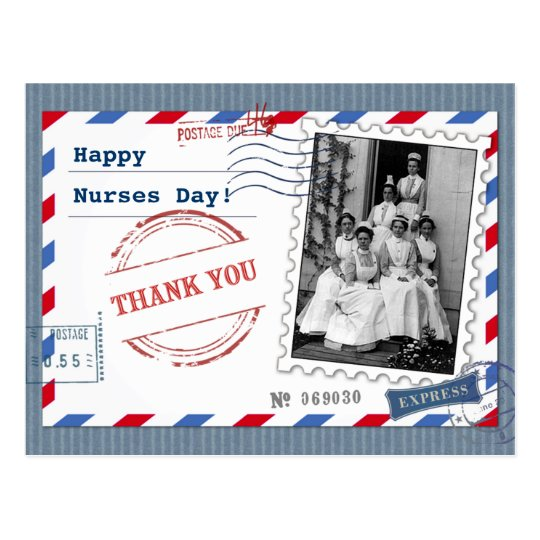 Happy Nurses Day. Vintage Design Postcards