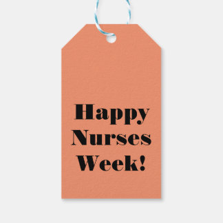 Happy Nurse's Week Gift Tags Custom Rose Nurse