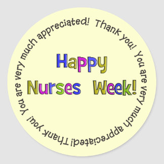 Happy Nurses Week Gifts Round Sticker