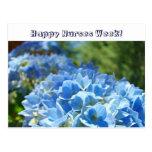 Happy Nurses Week! postcards Blue Hydrangeas