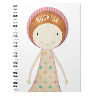 Happy Nuskina Spiral Notebook