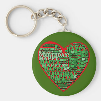 Happy O'Birthday St Patricks Day Birthday Tshirt Basic Round Button Keychain