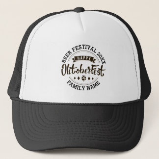 Happy Octoberfest Modern Typography Beer Festival Trucker Hat