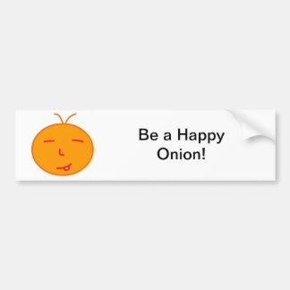 Happy Onion Bumper Sticker