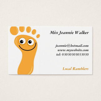 Happy Orange Feet Business Card