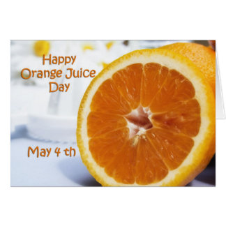 Happy Orange Juice Day Card May 4