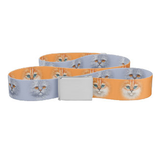 Happy Orange Tabby Kitten & Sad Gray Tabby Kitten Belt