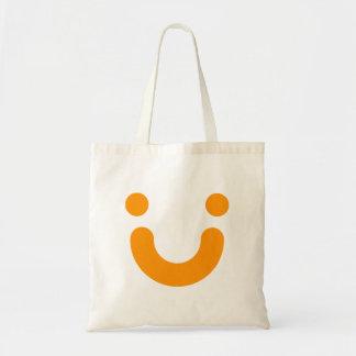 Happy orange tote bag