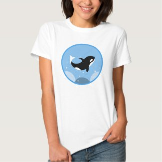Happy Orca Killer Whale T-shirt Cute Jumping orca