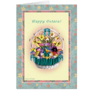 Happy Ostara - Vernal Equinox - Ostara Basket Card