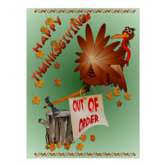 Happy Out Of Order Thanksgiving Print