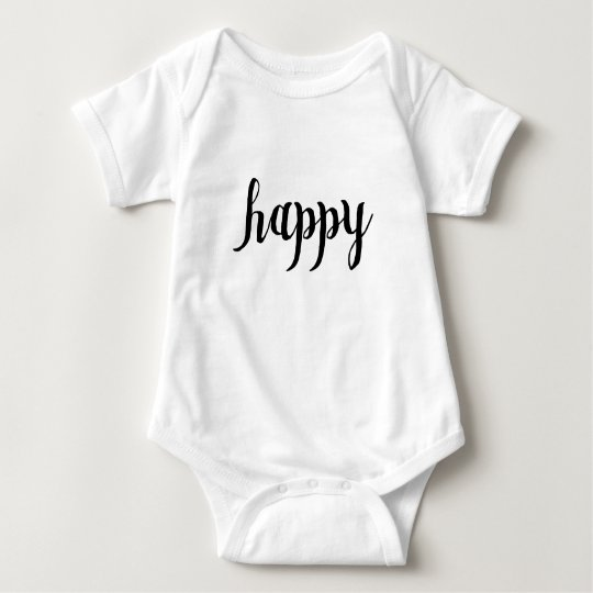 """Happy"" Outfit For Baby - Matching Family Baby Bodysuit"