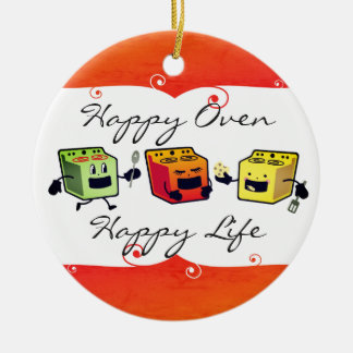 Happy ovens cooking baking Christmas ornament
