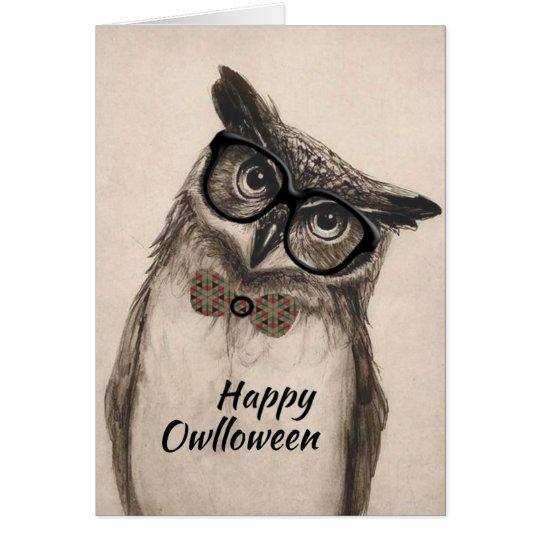 "Happy ""Owlloween"" Greeting Card"