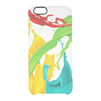 Happy Paint Splatter Clear iPhone 6/6S Case