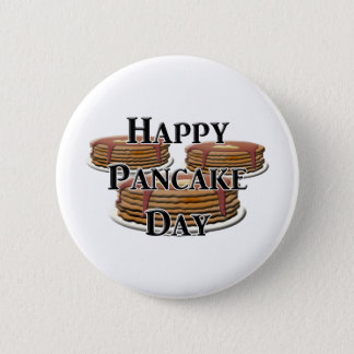Happy Pancake Day 2 Inch Round Button
