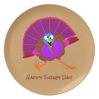 Happy Pardoned Turkey plates